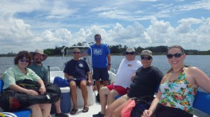 Some of the participants on the snorkeling trip